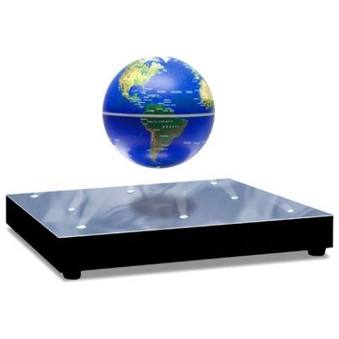 浮遊・回転型の地球儀。青色LEDで美しくライトアップ。 World Stage 3インチ Levitating Globe