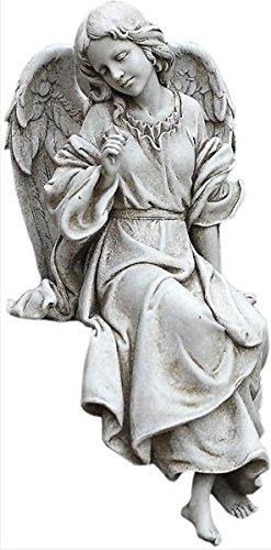 座って 見下ろしている 天使 彫像 彫刻 高さ 約30cm ガーデン置物