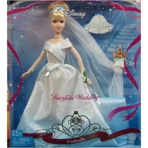 Disney Princess Fairytale Wedding Cinderella Doll by Mattel