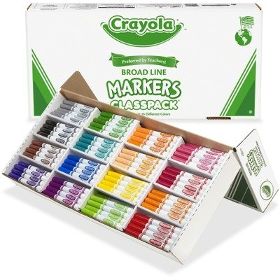Crayola Markers Classpack, Non-Washable, 256 per Box, Assorted (CYO588201) おもちゃ
