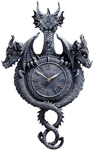 Design Toscano 'Past, Present, Future Sculptural Dragon Wall Clock'
