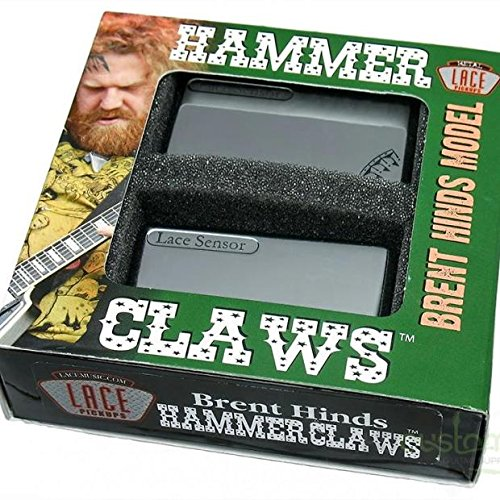 Lace ピックアップ Brent Hinds of Mastodon's Signature Set - Hammer Claws Smoke Chrome レース マス