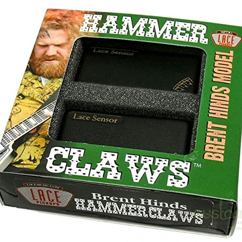Lace ピックアップ Brent Hinds of Mastodon's Signature Set - Hammer Claws Black レース マストドン