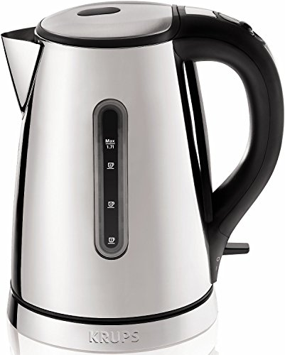 KRUPS BW730D Breakfast Set Electric Kettle with Brushed and Chrome Stainless Steel Housing, Silver