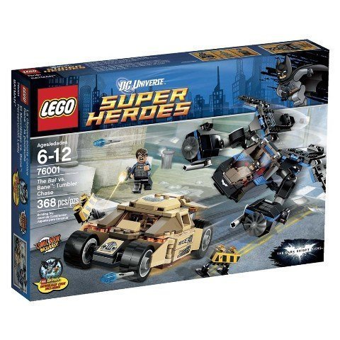 Lego 76001 Super Heroes Tumbler Chase - 368 Pieces by LEGO