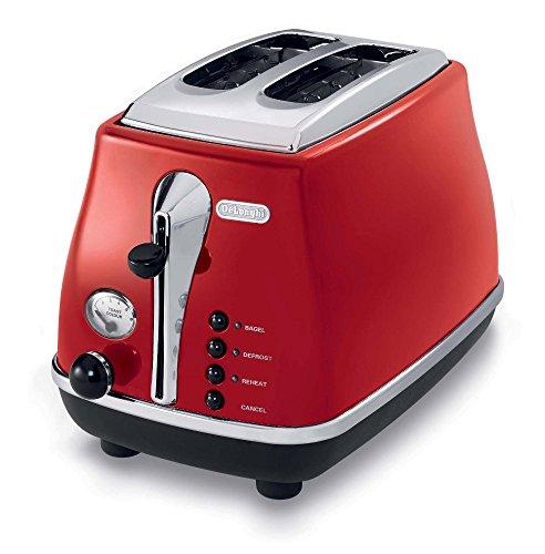 CTO2003R 2-Slice Toaster トースター(2スライス) DeLonghi社 Red