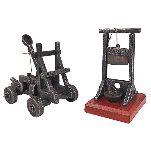 Design Toscano Desk-Sized Catapult and Guillotine Set of Two