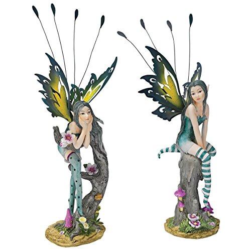 Design Toscano Lochloy House Fairy Twins Statue Set