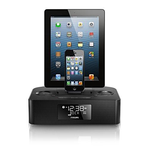 Philips フィリップス Dual Dock Alarm Clock デュアルアラームクロック Speaker スピーカー AJ7260D/37