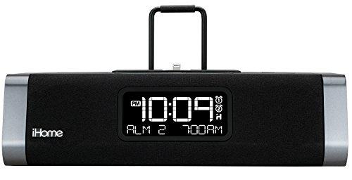 iPad/iPhone/iPod用リモコン付き iD45BZ ステレオクロックラジオ iHome社