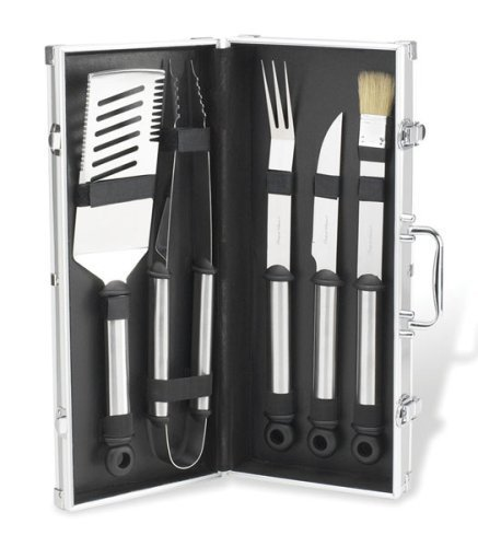 Picnic at Ascot 5-Piece Stainless Steel with Aluminum Carry Case by Picnic at Ascot