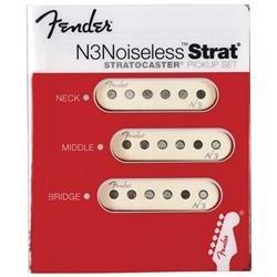 White Covers ピックアップ**** Pickups Fender N3 of Noiseless Stratocaster Set 3