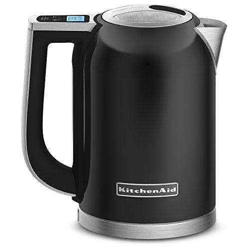 KitchenAid キッチンエイド KEK1722OB 1.7-Liter Electric Kettle with LED Display - Onyx Black 電気