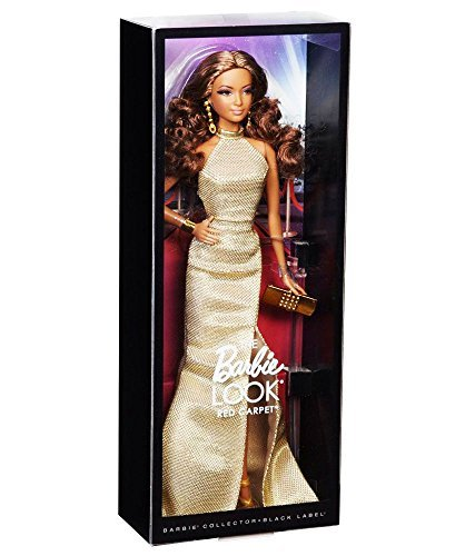 Barbie The Look Red Carpet Black Label Collector: Gold Dress Barbie Doll by Barbie