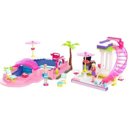 バービー Mega Bloks メガブロックス Barbie Build \'n Style Pool Party Play 人形 ドール おもちゃ