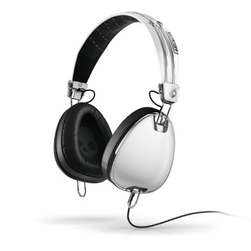 Skullcandy S6AVFM-158 Aviator Headphones with Mic3 (White)