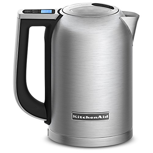 KitchenAid キッチンエイド KEK1722SX 1.7-Liter Electric Kettle with LED Display - Brushed Stainles