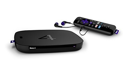 Roku 4 Streaming Media Player (4400R) 4K UHD