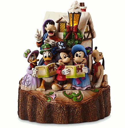 Disney(ディズニー)Mickey Mouse and Friends ''Holiday Harmony'' Light-Up Figure by Jim Shore ジム・