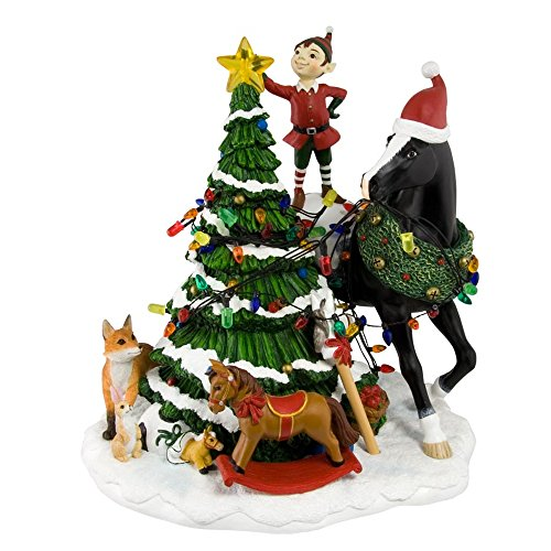 Enesco Trail of Painted Ponies Woodland Christmas Centerpiece, 9-Inch