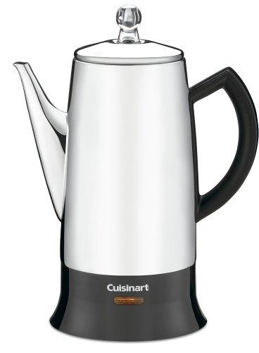 Cuisinart PRC-12 コーヒー濾し器 Classic 12-Cup Stainless-Steel パーコレーター Percolator Black/Sta