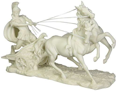 Design Toscano 6.5 in. Charge of the Roman Charioteer Sculpture