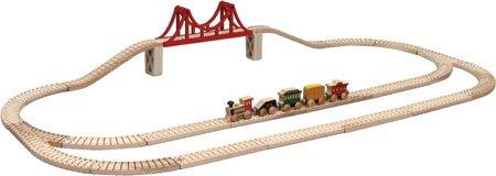 【米国正規商品・】 木製おもちゃ Maple Landmark Wooden Toy Skyline Train Set -Kids メイプルランドマ