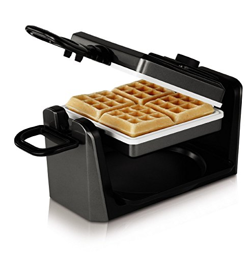 Oster CKSTWF11WC-ECO DuraCeramic Belgian Flip Waffle Maker, White by Oster