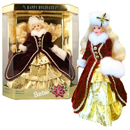 Mattel Year 1996 Barbie Hallmark Special Edition 12 Inch Doll - HAPPY HOLIDAYS BARBIE in Burgundy