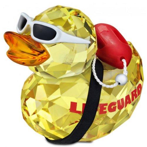 スワロフスキー SWAROVSKI クリスタル フィギュア Happy Ducks ハッピーダック アヒル ライフガード (Lif
