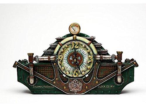 Colonel J Fizziwigs造形 スチームパンク コレクションテーブル置き時計 彫像 輸入品