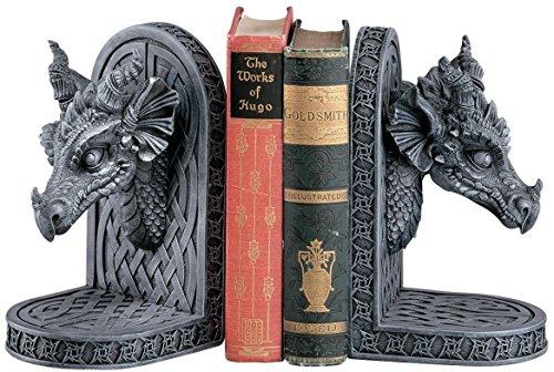 Design Toscano Gray Friar Dragon Bookends Statue (Set of 2)