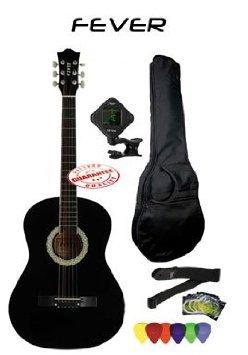 Fever (フィーバー) 3/4 Size アコースティックギター Package Black FV-030-BK-PACK アコースティックギ