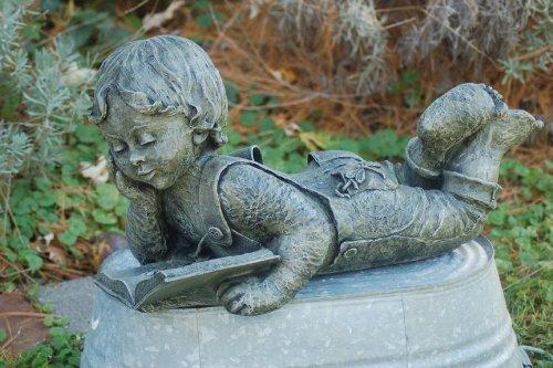 LadyBug Michael Statue Outdoor Statue, Moss