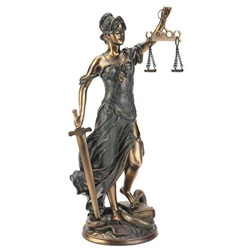 Design Toscano Goddess of Justice Themis Desktop Statue