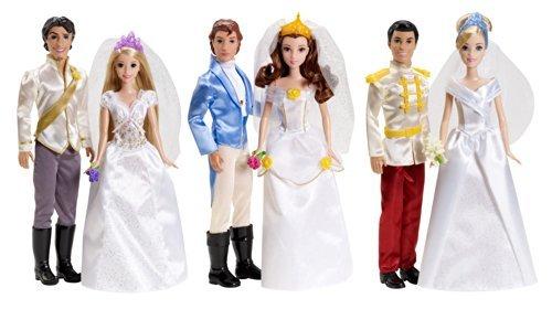 Disney Princess Fairytale Wedding 6-Doll Gift Set by Mattel
