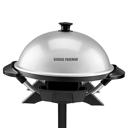 George Foreman ジョージフォアマン GFO200S Indoor/Outdoor Electric Grill, Silver グリル