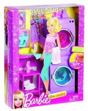 Game/Play Barbie(バービー) Glam Laundry Furniture Set Kid/Child ドール 人形 フィギュア