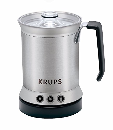 KRUPS XL2000 Electric Milk Frother with Cappuccino Latte and Hot Milk features, Silver