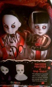 Living Dead dolls: Sinister Minister & Bad Habit 白い Version ドール 人形 フィギュア