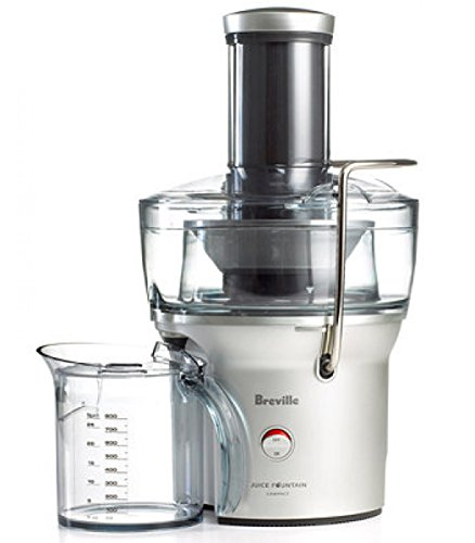 Breville Compact Juicer Juice Fountain - BJE200XL/ Internal Pulp Collector Allows You To