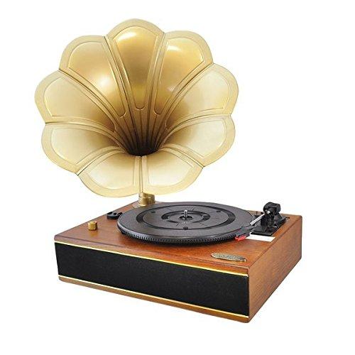 クラシックホーン蓄音機/ターンテーブル Pyle社 Mahogany