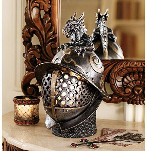 Design Toscano Dragon Warrior Helmet Illuminated Sculpture