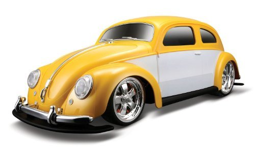 R/C Volkswagen Beetle Car Color: Yellow / White