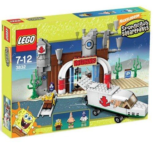 SpongeBob Squarepants Exclusive Limited Edition Lego Set #3832 Emergency Room by LEGO
