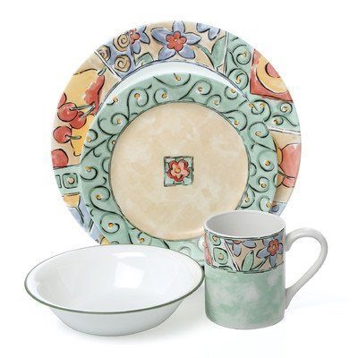 Corelle Impressions Watercolors 16 Piece Dinnerware Set by Corelle