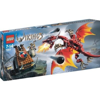 LEGO Vikings 7017 Viking Catapult versus the Nidhogg Dragon おもちゃ