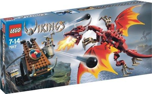 LEGO Vikings 7017 Viking Catapult versus the Nidhogg Dragon by LEGO