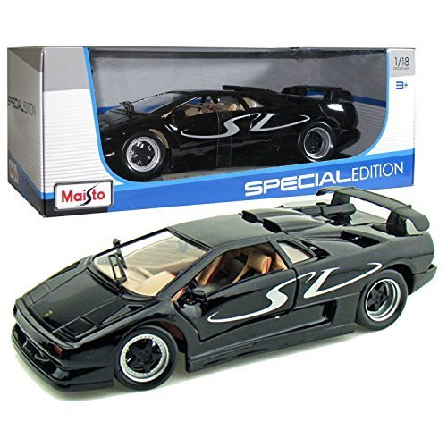 Maisto Year 2014 Special Edition Series 1:18 Scale Die Cast Car Set - Black Color Sports Coupe LAM