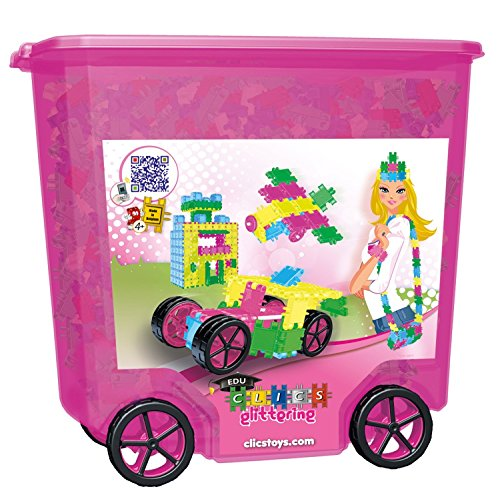 Clics Toys Rollerbox Glitter, 800 Pieces